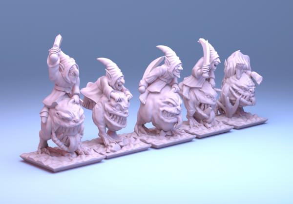Orcs&Goblins - Full Individual Goblin Squigriders