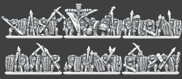 Chaos Dwarves - Orc Slaves Regiment