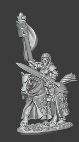 Empires of Man - Female Knight Hero on Horse