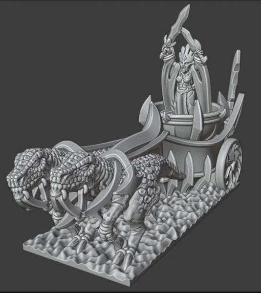 Shadow Elves - Blood Queen on Chariot