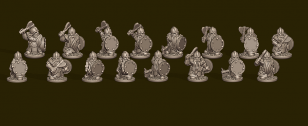 Dwarven Lords - Individual Warrior Pack