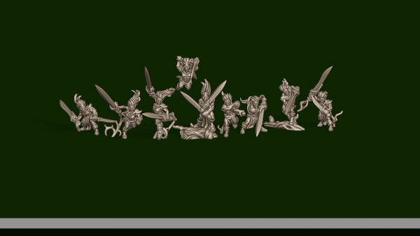 Elves of the Wood - Individual BladeDancers