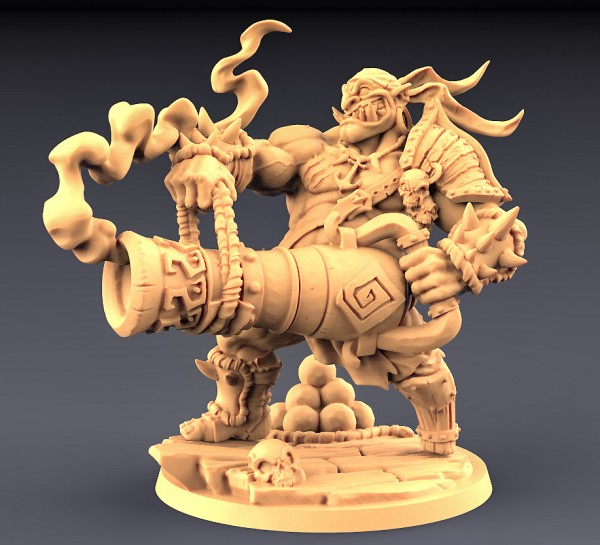 Gronk Boomshot - Ogre Cannoneer Hero