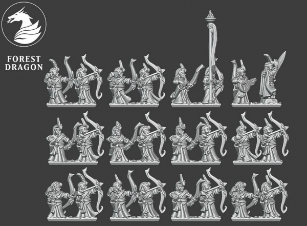 Noble Elves - Full Archers Regiment FD