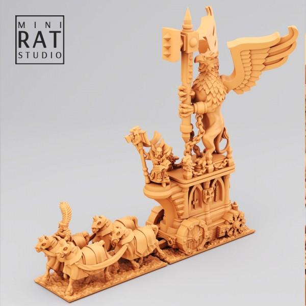 Empires of Man - High Priest on WarAltar (MIniRat Style)