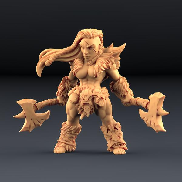 Hildara Bloodrage - Dwarf Berserk Heroine