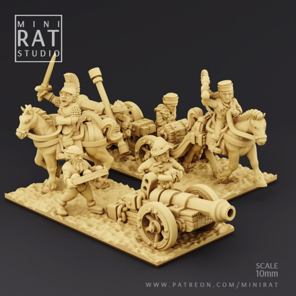 Renown Mercenaries - Full Galloper Guns Regiment (MiniRat Style)