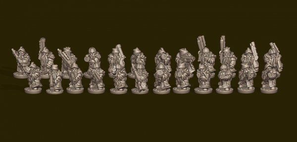 Dwarven Lords - Individual Gunners Pack