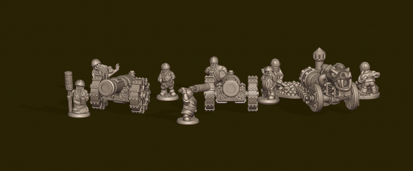 Dwarven Lords - Cannons with Crew
