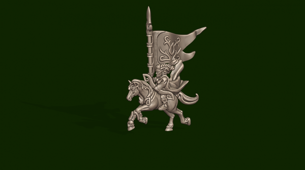 Elves of the Wood - Individual Mounted Standard Bearer