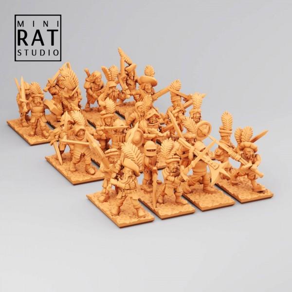 Empires of Man - Full Skirmishers Regiment (MiniRat Style)
