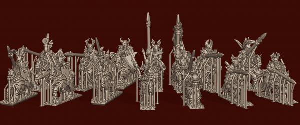 Vampire Lords - Individual Vampire Mounted Knights Pack