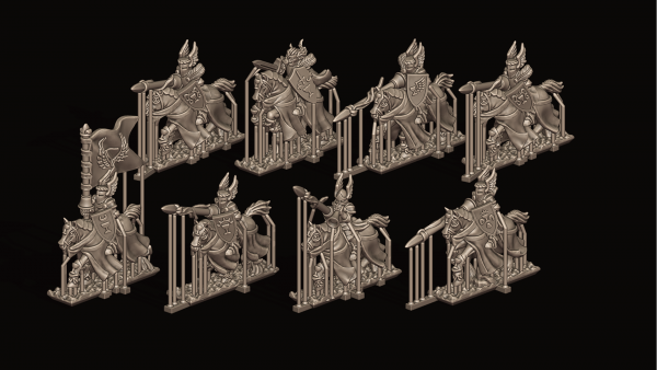 Empires of Man - Individual Charging Elite Knights FD