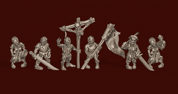 Vampire Lords - Individual Zombie Command Pack