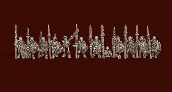Vampire Lords - Individual Skeleton Spearmen Soldiers Pack