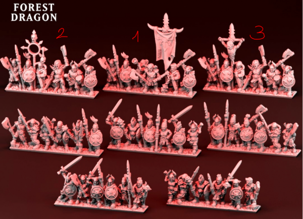 Dark Champions - Full Light Infantry Regiment 2 (Undivided)