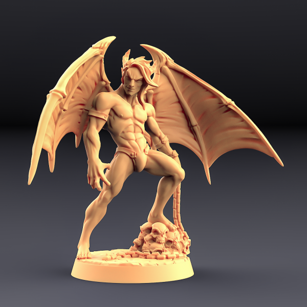 Vanos - Lust Demon (Fantasy Pin-Up) (wings & horns)