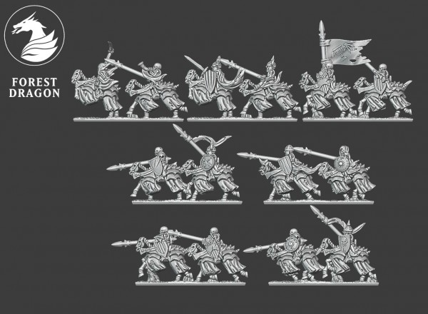 Vampire Lords - Full Skeleton Horsemen Regiment