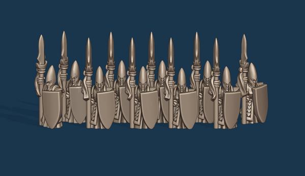 Noble Elves - Individual Spearmen Soldiers Pack
