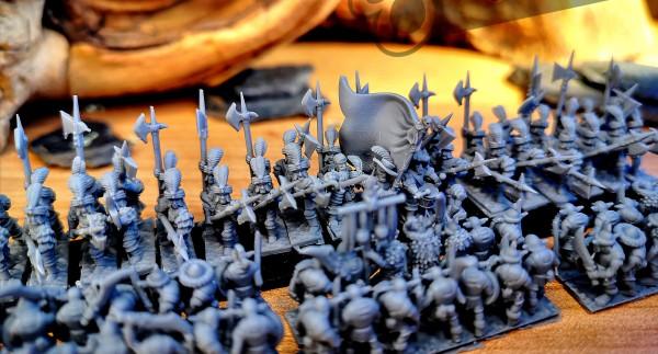 Empires of Man - Full Classic Halberdiers Regiment 2 (XM Style)