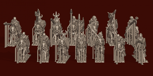 Vampire Lords - Individual Skeleton Horsemen Pack