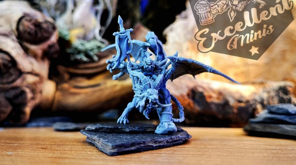 Shadow Elves - Champion on Ashen Manticore