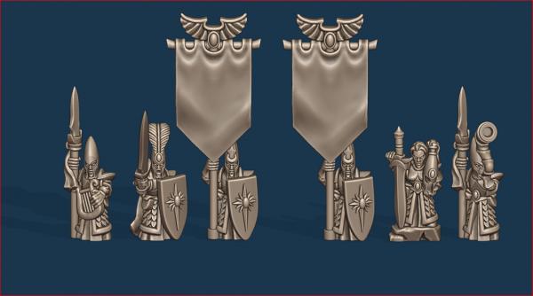 Noble Elves - Individual Spearmen Command