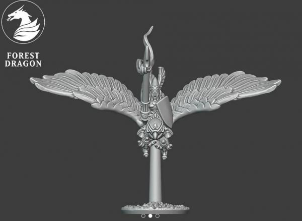 Noble Elves - Hero on Giant Eagle