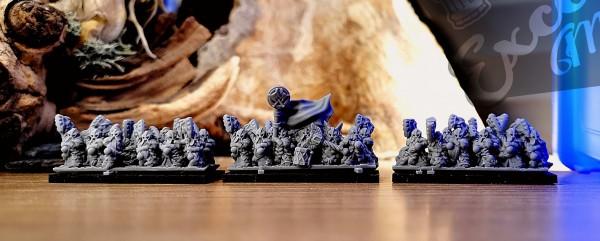 Dwarven Lords - Full Great Axe Elite Regiment 2 (cross)