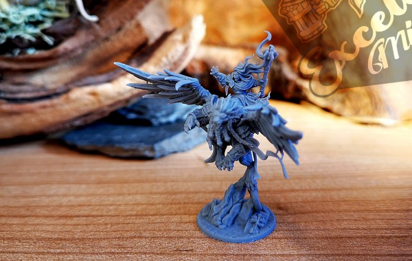 Empires of Man - Warrior Priestess on winged Lion