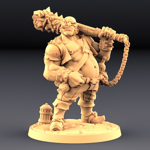 Dunn Half-Ogre - Half Ogre Thug Hero