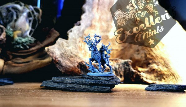 Elves of the Wood Sorceress on Stag