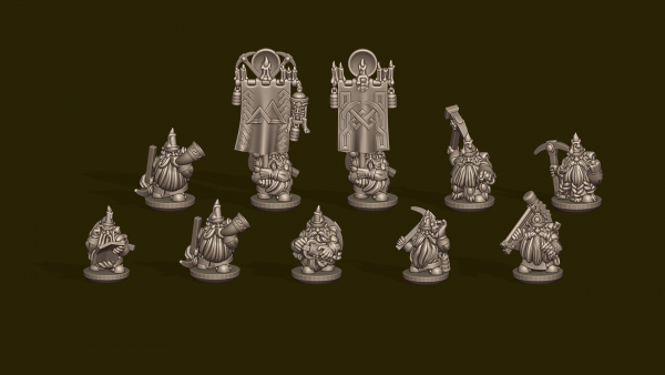 Dwarven Lords - Individual Dwarven Miners Command