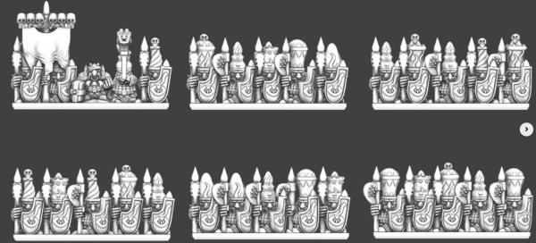 Chaos Dwarves - Magmawarriors Regiment