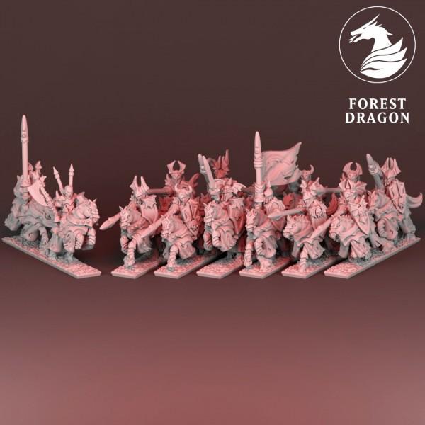 Vampire Lords - Full Vampire mounted Knights Regiment