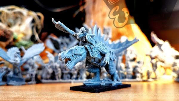 Lizard Kingdom - General on Spine Beast