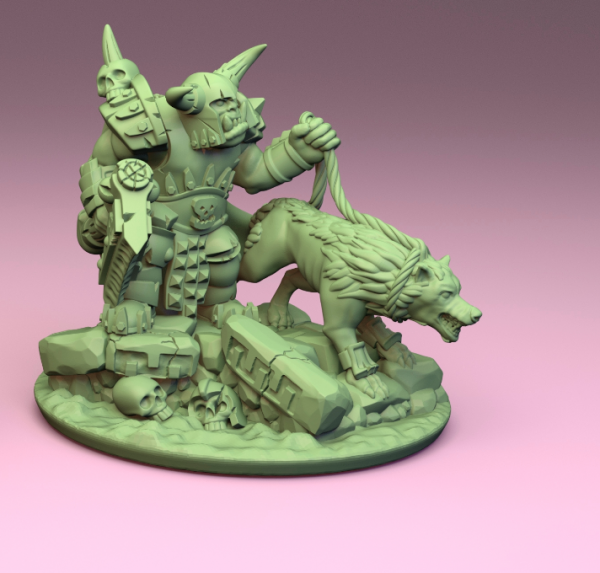 Orcs&Goblins - Orc General with Wolf