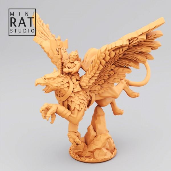 Empires of Man - Hero on Gryphon (MIniRat Style)