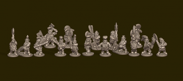 Dwarven Lords - Individual Berserkers Pack (with Trousers)