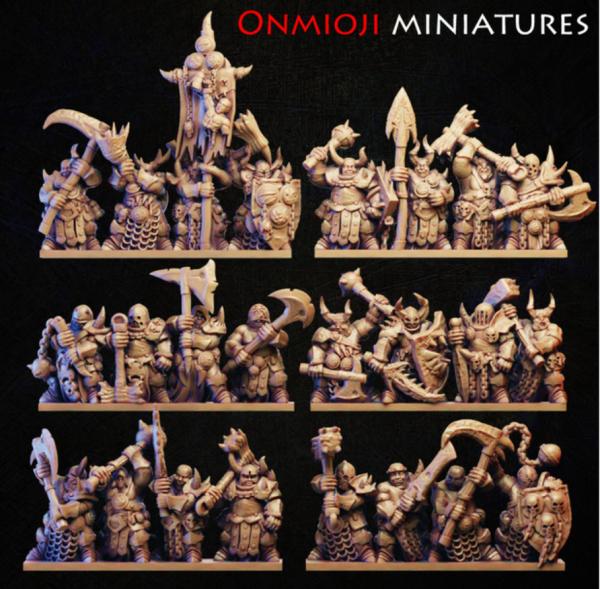 Dark Champions - Full Warriors Regiment (God of Decay)