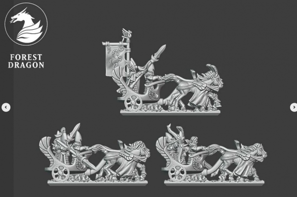 Noble Elves - Full Chariot Regiment FD