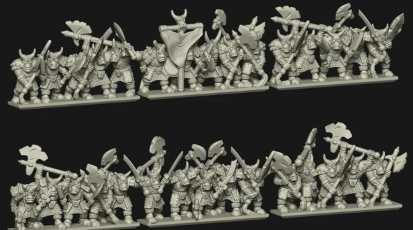 Chaos Dwarves - Black Orcs Regiment