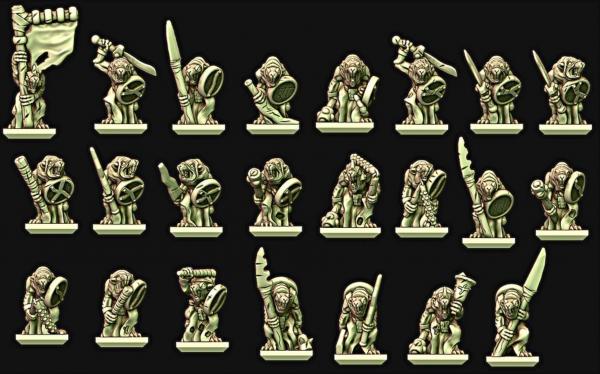 Vermin Clans - Individual Clan Rat Warriors