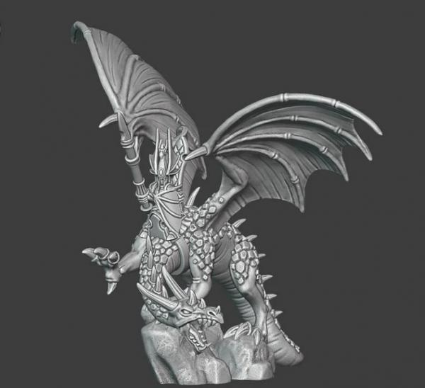 Noble Elves - Hero on Dragon