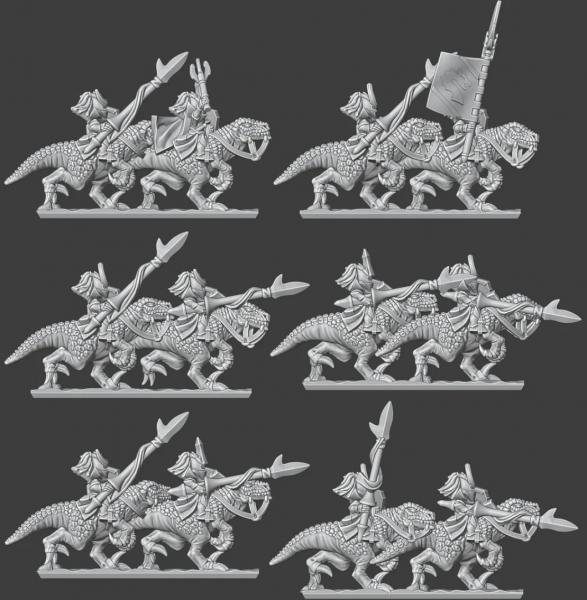 Shadow Elves - Full Lizard Rider Knights Regiment