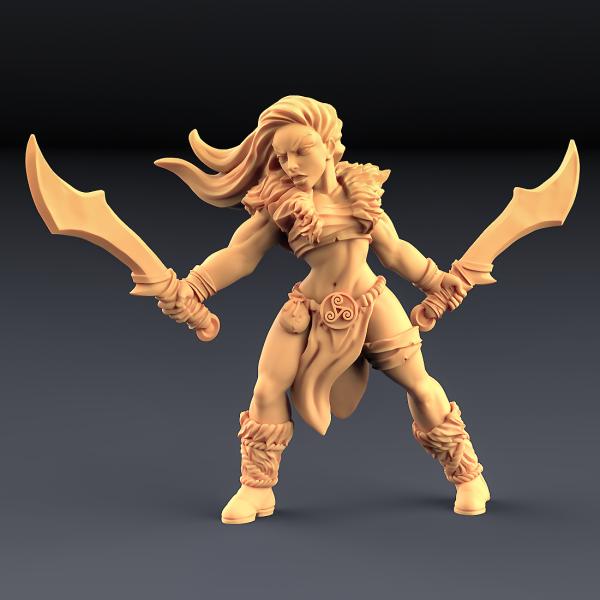 Barbarian Blademaster - B