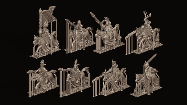 Empires of Man - Individual Charging Chivalric Knights