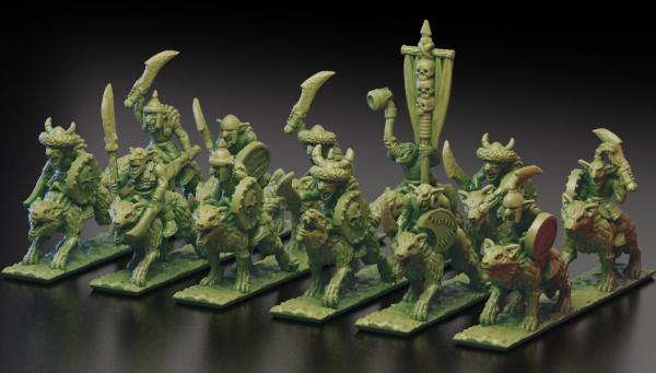 Orcs&Goblins - Full Steppe Goblins WolfRiders Regiment