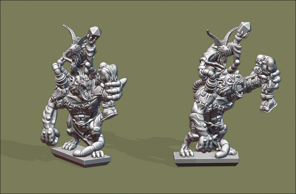 Vermin Clans - Ratogre with Shaman and Orc Slave