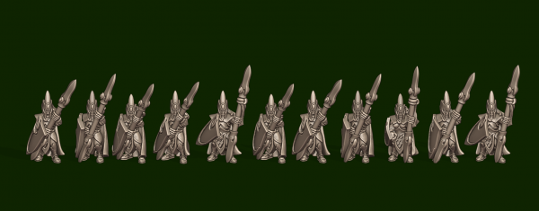 Elves of the Wood - Individual Spearmen Soldiers Pack